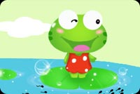 Smiling Frog On Water Lily Stationery, Backgrounds
