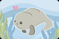Sea Lion Enjoying A Swim Stationery, Backgrounds