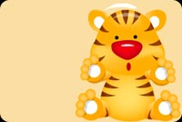 Tiger With Red Nose Stationery, Backgrounds