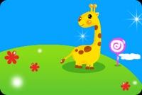 Giraffe In The Meadow Stationery, Backgrounds