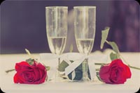 Champagne & Roses For Wedding Anniversary Stationery, Backgrounds