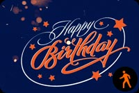 Animated Flaring Birthday Stationery, Backgrounds