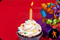 Animated Birthday Cupcake Stationery, Backgrounds