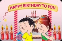 Boy And Girl Birthday Stationery, Backgrounds