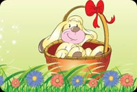 Bunny In A Basket Stationery, Backgrounds