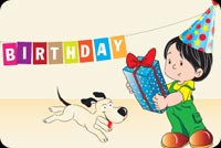 Birthday email stationery. Birthday Boy And His Dog