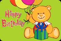 Teddy Bear With Balloons And Gift Stationery, Backgrounds