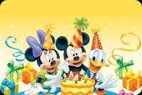 Disney Celebrates Colorful Birthdays Stationery, Backgrounds