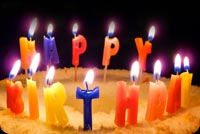Colorful Happy Birthday Candles Stationery, Backgrounds