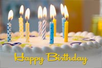 Birthday Wish Candles Stationery, Backgrounds
