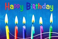 Beautiful Birthday Wish With Candles Stationery, Backgrounds