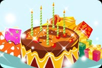 Birthday email stationery. Chocolate Cake With Candles
