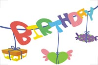 Gifts & Candy For Your Birthday Stationery, Backgrounds