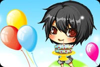 Colorful Balloons And A Cake Stationery, Backgrounds