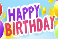 Balloons Birthday Wishes Stationery, Backgrounds
