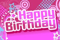 Cute Birthday Theme For Girls Stationery, Backgrounds