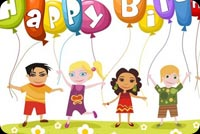 Children Birthday Wishes Stationery, Backgrounds