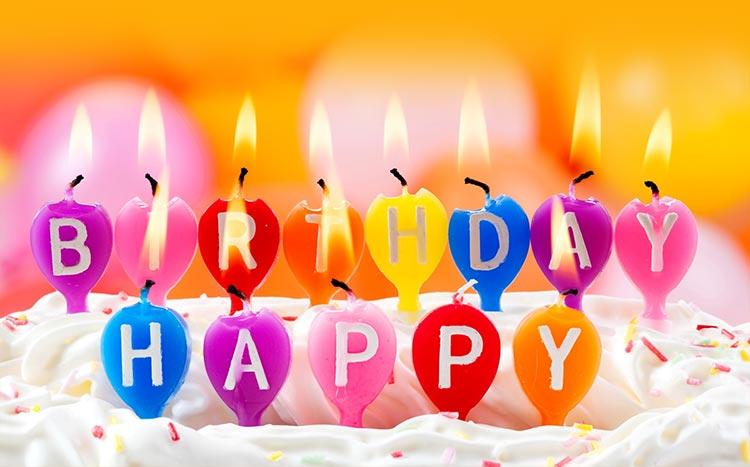 Свечи с днем рождения