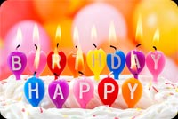 Cool Happy Birthday Candles Stationery, Backgrounds