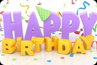 3d Birthday With Confetti Stationery, Backgrounds