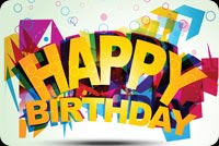 Cool Design Happy Birthday Stationery, Backgrounds