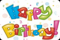 Cool Text Happy Birthday Stationery, Backgrounds