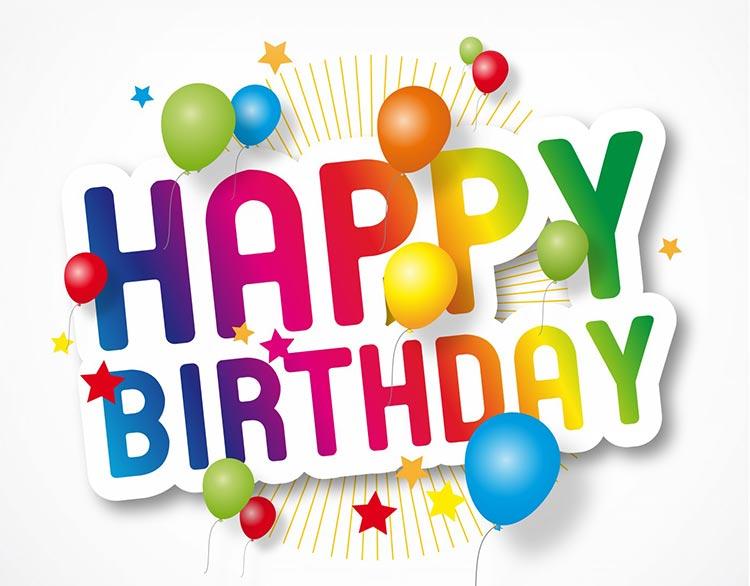 Birthday Email Stationery Stationary Happy Balloons Stars