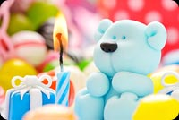 Birthday email stationery. Birthday Gifts, Candle For Teddy Bear