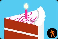 Birthday Cake Blowing Candles By Mslk Stationery, Backgrounds