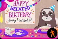 Happy Belated Birthday By Hallmark Stationery, Backgrounds