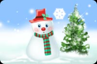 Frosty The Snowman And Tree Stationery, Backgrounds