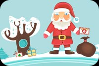 Santa Is Coming To You Stationery, Backgrounds