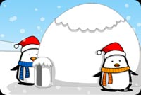 2 Cute Penguins And An Igloo Stationery, Backgrounds