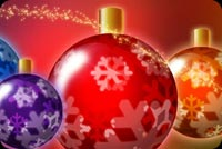 Colorful Christmas Balls Stationery, Backgrounds