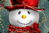 Happy Smiling Snowman Stationery, Backgrounds