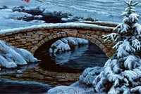 Cool Winter Bridge  Stationery, Backgrounds