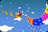 Santa Flew Past The Moon Stationery, Backgrounds