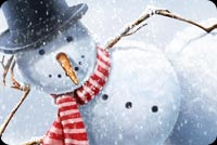 Cool Snowman Stationery, Backgrounds