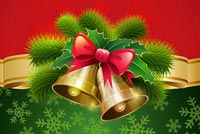 Loving Christmas Bells & Bow Stationery, Backgrounds