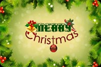Merry Christmas Border Stationery, Backgrounds