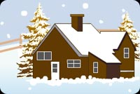 A Home During Christmas Stationery, Backgrounds