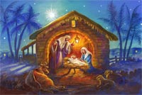 Christmas Holy Night Stationery, Backgrounds