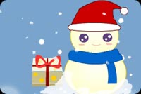 Frosty In Blue Scarf Stationery, Backgrounds