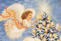 Christmas Tree & Angels Stationery, Backgrounds
