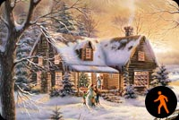 Animated Christmas Bring Joy To Your House Stationery, Backgrounds