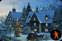 Animated A Beautiful Christmas Houses Stationery, Backgrounds