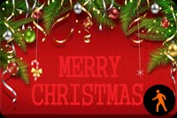 Animated Wish A Very Happy & Joyous Christmas Stationery, Backgrounds