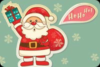 Santa Giving Gifts Stationery, Backgrounds
