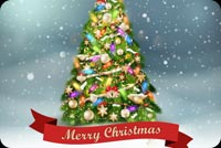 Light The Christmas Tree Stationery, Backgrounds