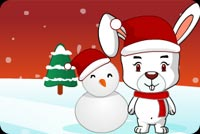 A Bunny, Frosty And Tree Stationery, Backgrounds